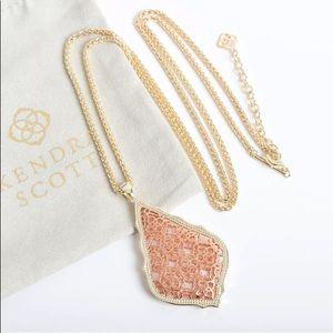 Kendra Scott Gold Aiden Necklace Rose Gold Filigre
